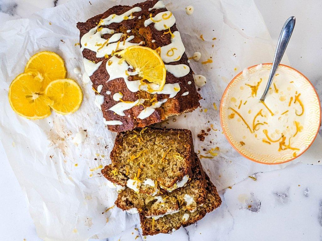 Zesty Orange Banana Bread with Vanilla Citrus Glaze