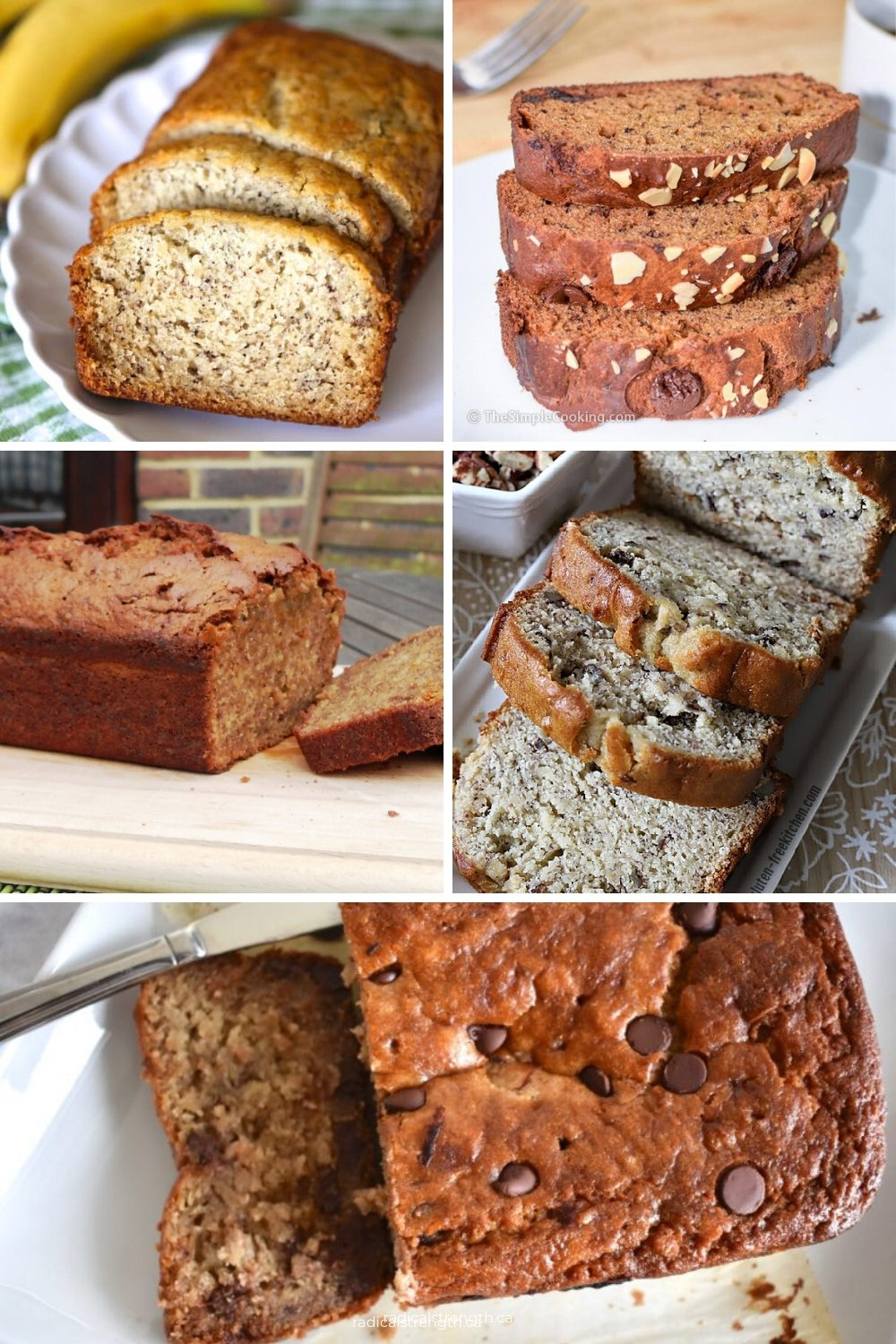 banana bread compilation healthy