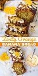 healthy orange banana bread