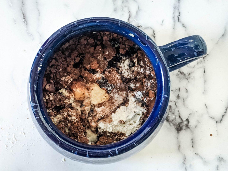 protein cake in a mug premix