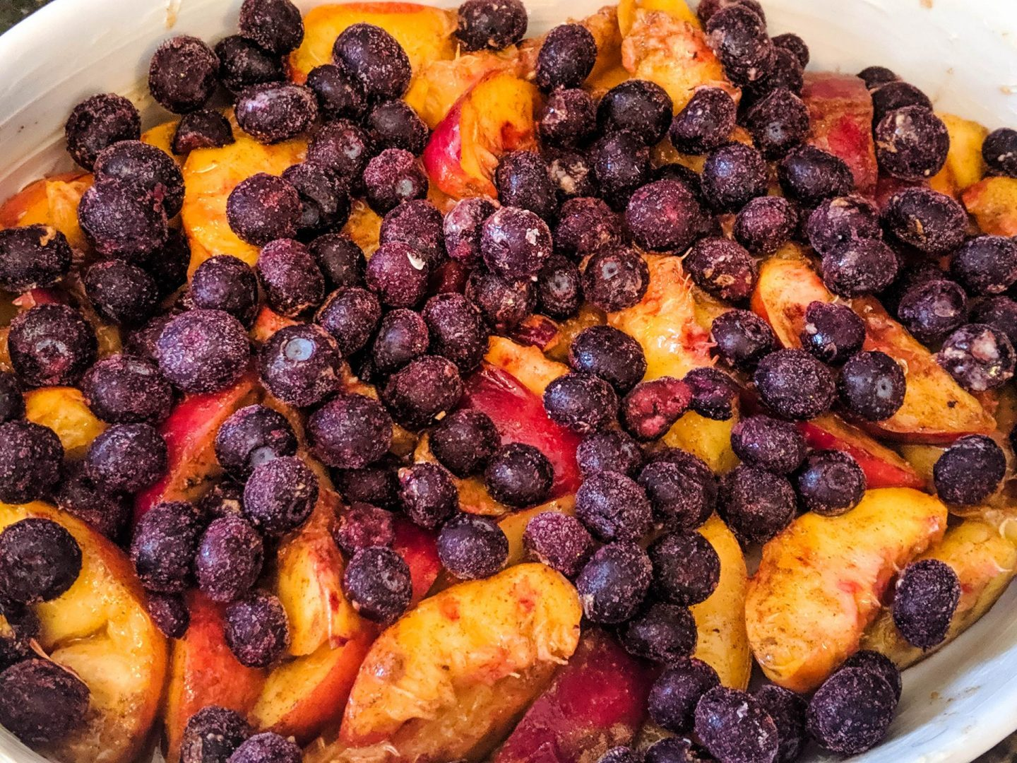 nectarines and blueberries