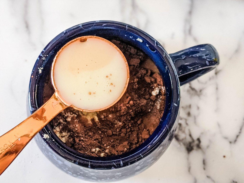 almond milk for hot chocolate mug cake