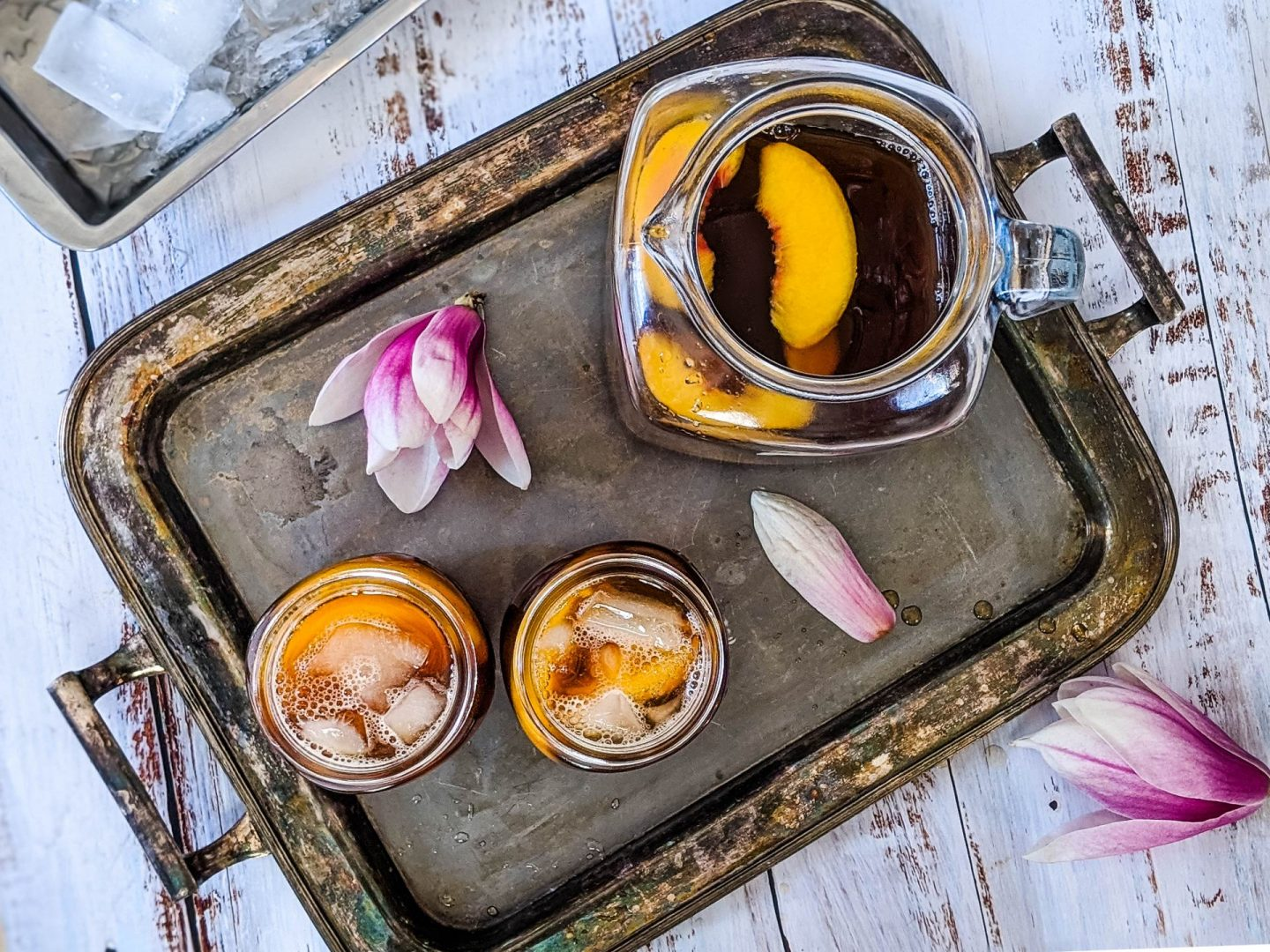 Peach Iced Tea (Cold Brew, Stove Top or Instant Pot)