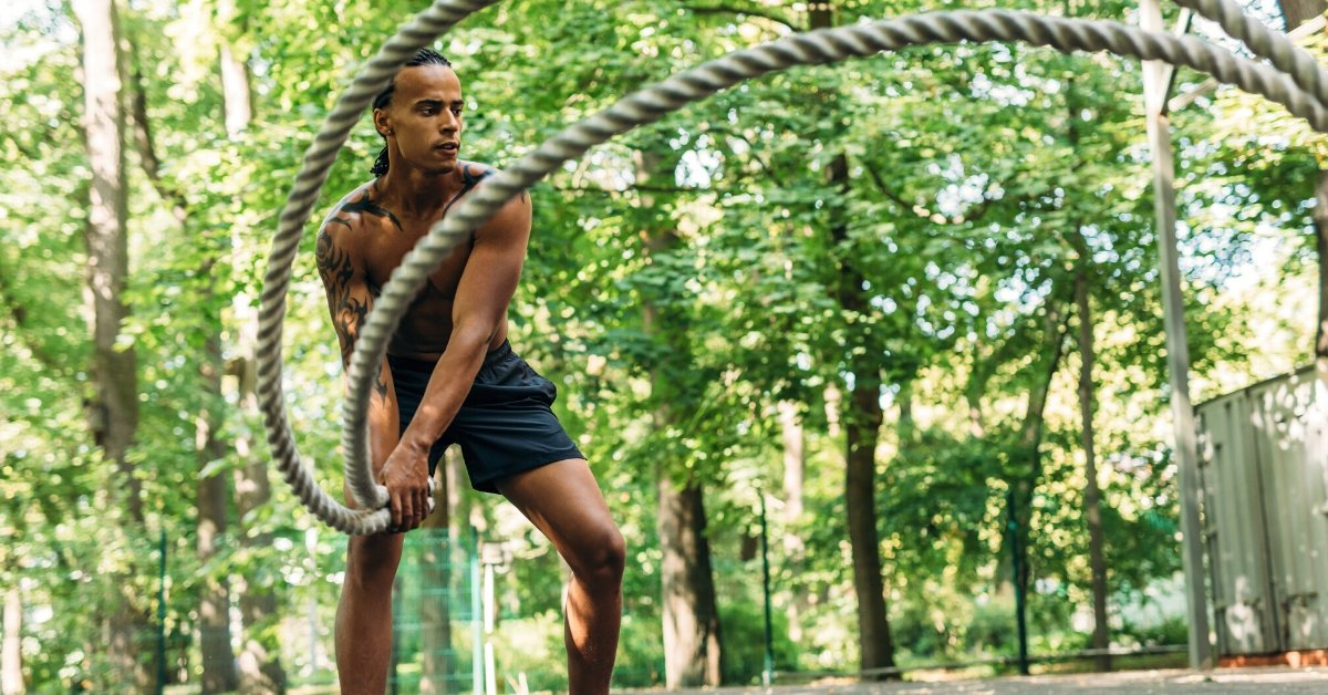 man battle ropes benefits outside