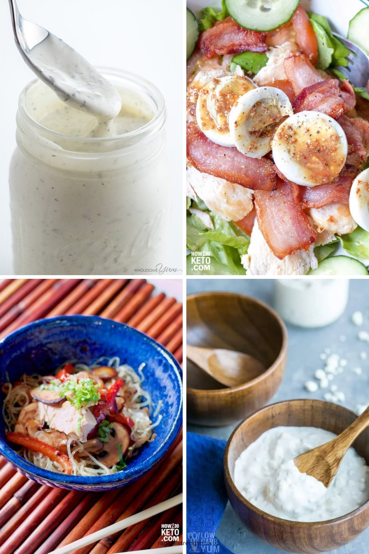 keto healthy homemade salad dressings