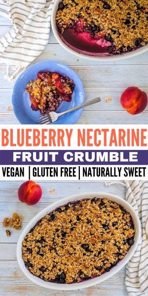 blueberry nectarine vegan crumble