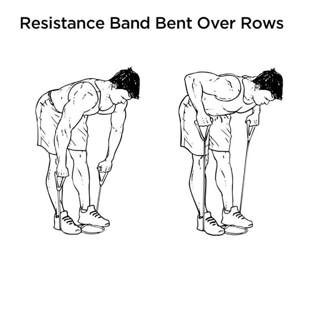 resistance band rear delt exercises