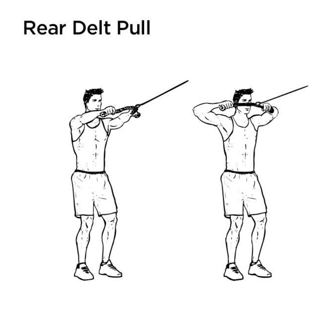 rear delt rope pull