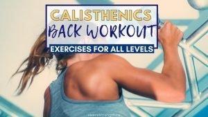 calisthenics back workout
