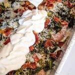 chicken caesar bake with kale