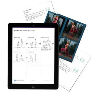 dumbbell glute workout pdf