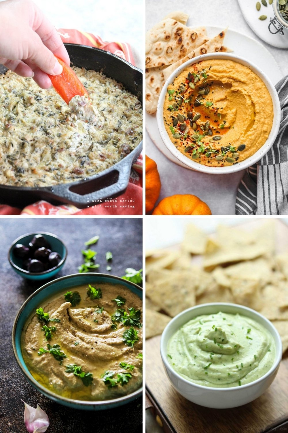 Healthy holiday dips
