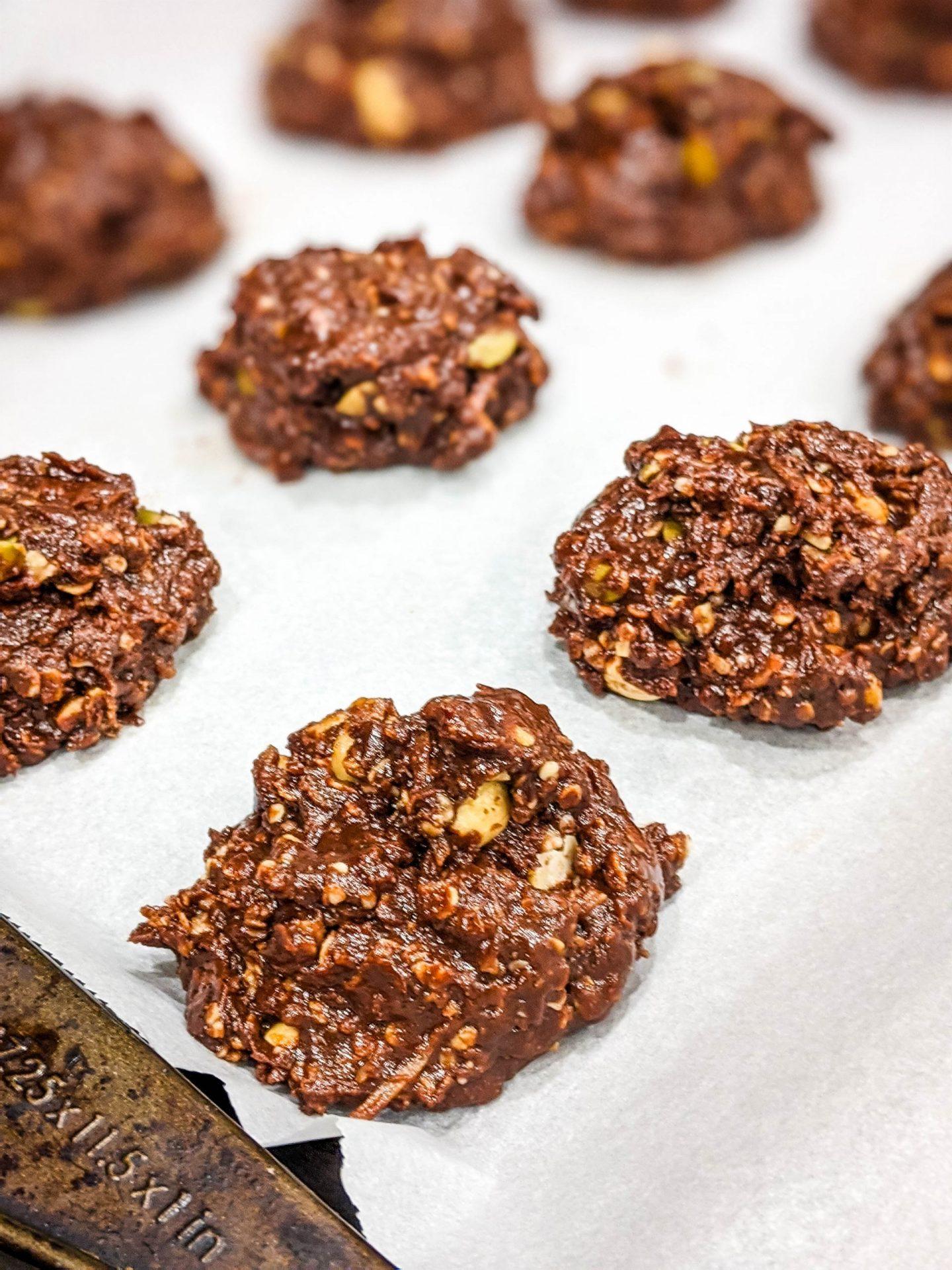 healthy mocha breakfast cookies