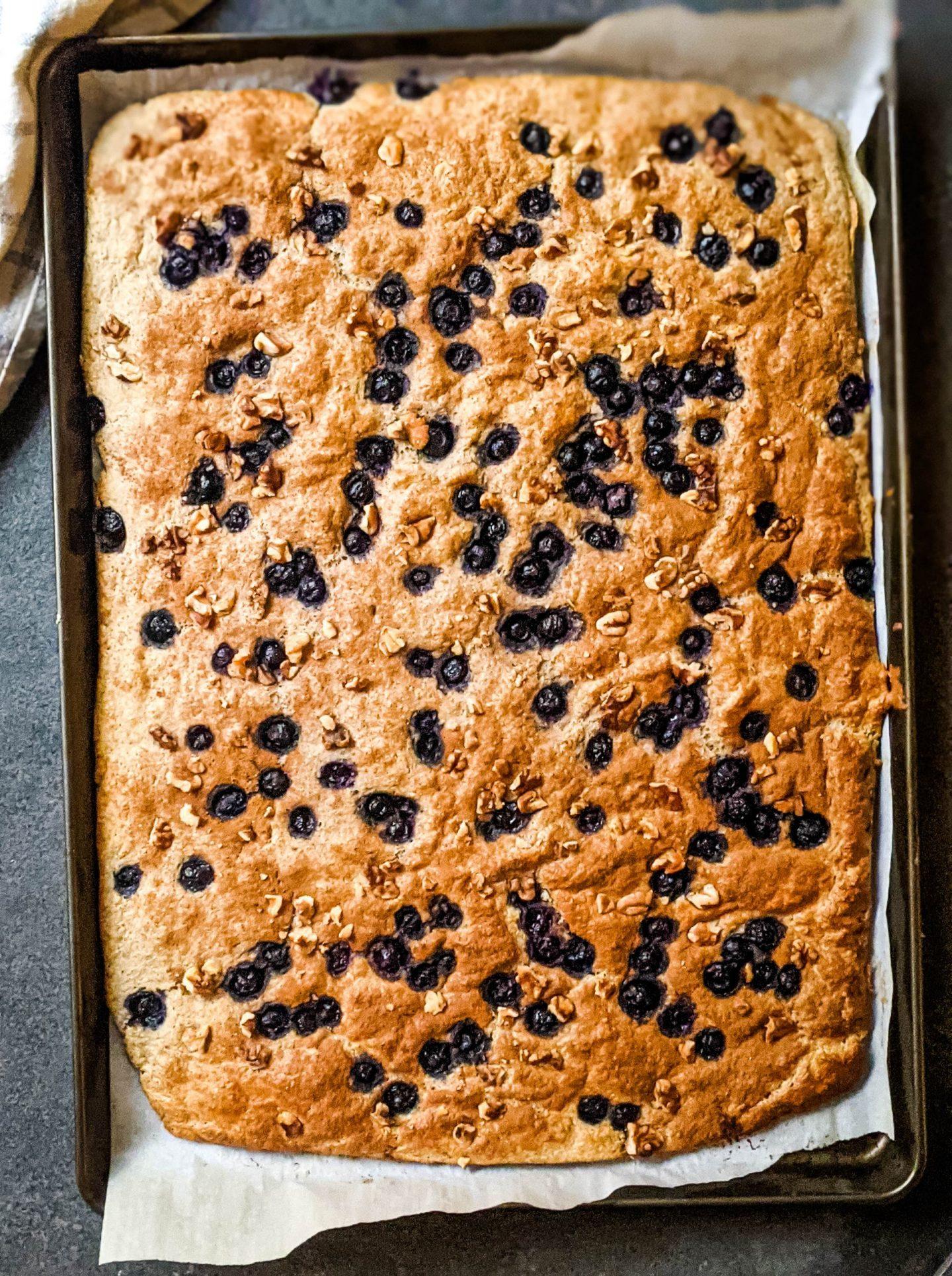 baked sheet pan protein pancake